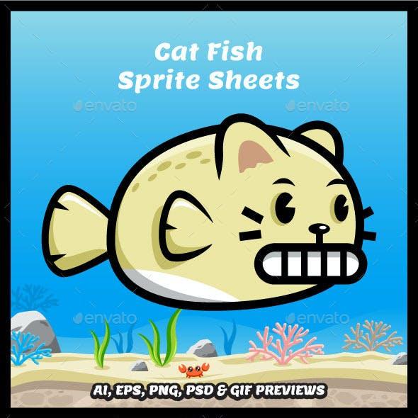 Cat Fish Game Character Spritesheets