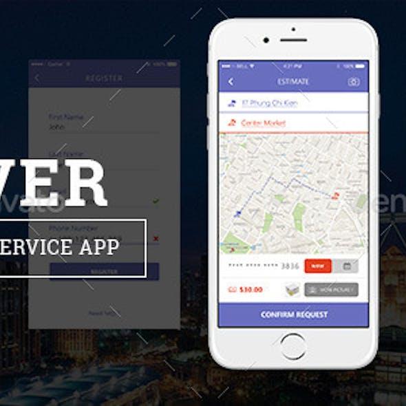 Uver - PSD App template