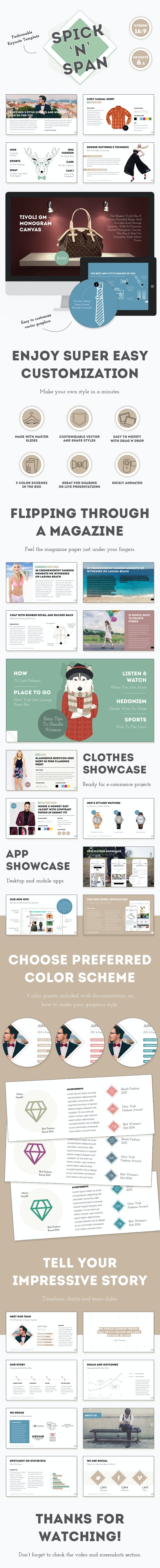 Spick and Span — Fashionable Keynote Template - Creative Keynote Templates