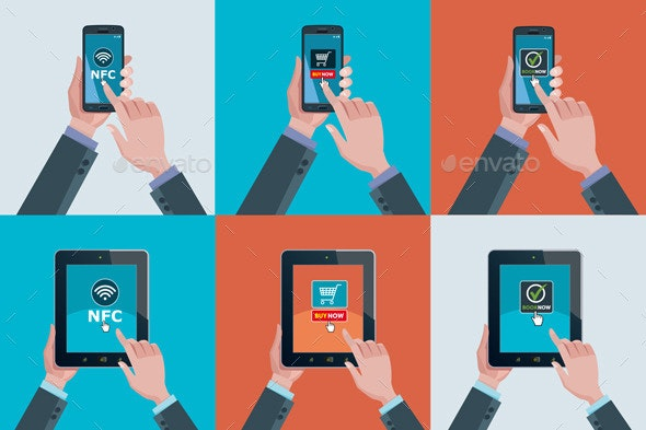 Hands Smartphones and Tablets - Web Technology