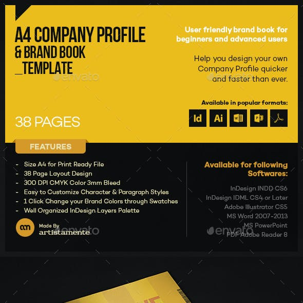Company Profile & Brand Book Template