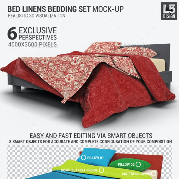 Bed Linens Bedding Set Mock-Up