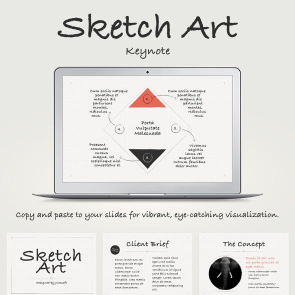 Sketch Art Keynote Template