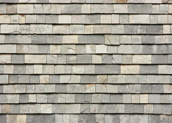 Gray slab roof tiles - Stone Textures