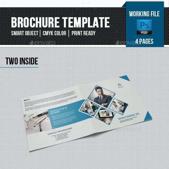 Corporate Square Bifold Brochure-V66