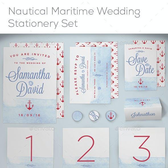 Nautical Maritime Wedding Stationery Set