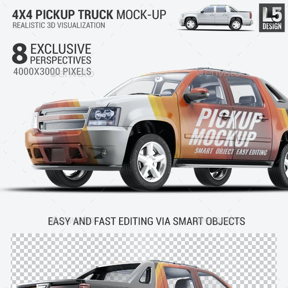 4X4 Pickup Truck Mock-Up