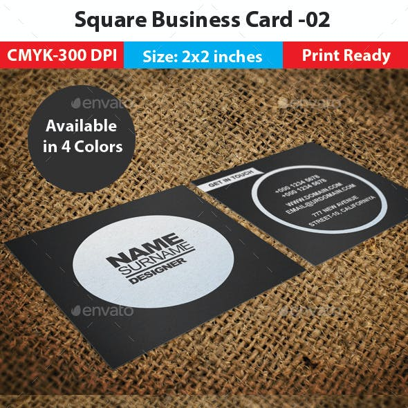 Square Business Card -02