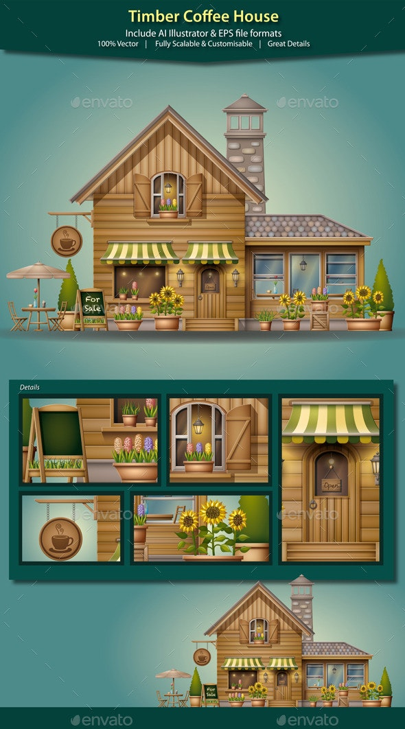 Timber Coffee House - Buildings Objects