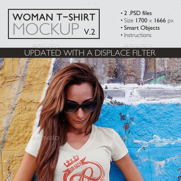Woman T-Shirt Mockup v.2
