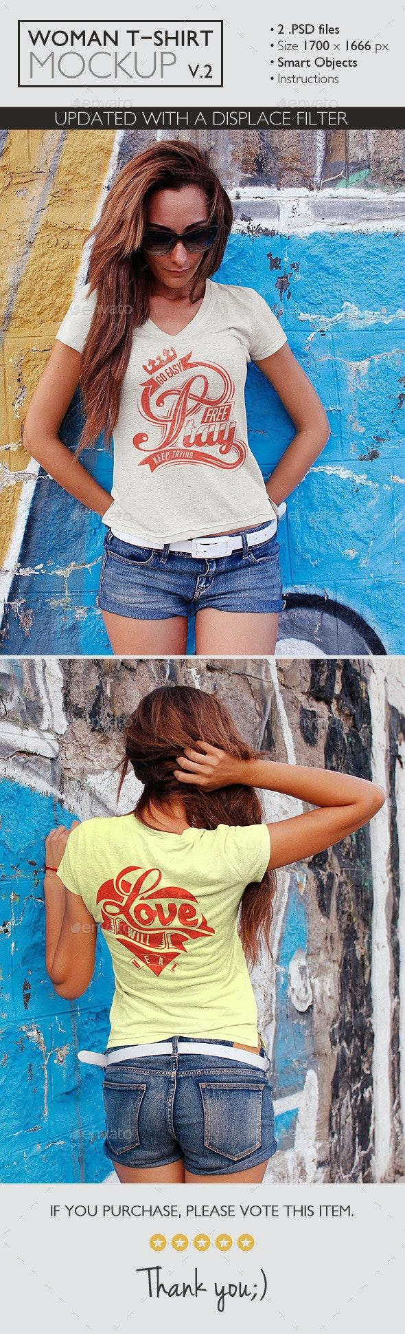 Woman T-Shirt Mockup v.2 - T-shirts Apparel