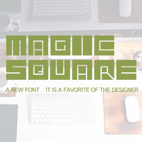 Font-Magic square