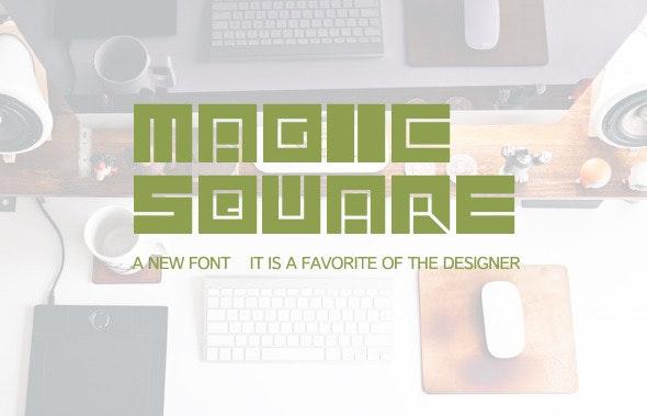 Font-Magic square - Stencil & Type Decorative