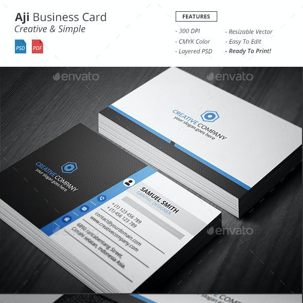 Aji - Corporate Business Card