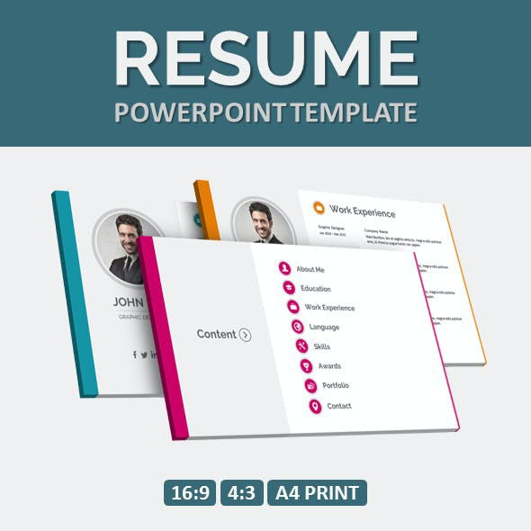 Resume Ppt Graphics, Designs & Templates From GraphicRiver