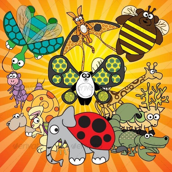 jungle animal-bugs - Animals Characters
