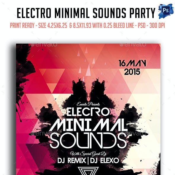 Electro Minimal Sounds Party Flyer