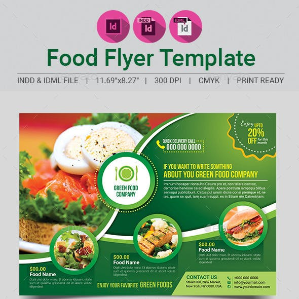 Green Food Flyer Template