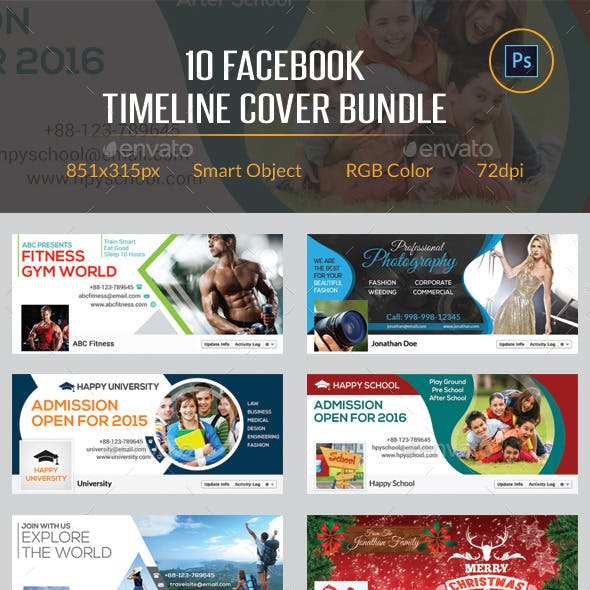 10 Facebook Timeline Cover Bundle