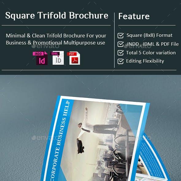 InDesign - Corporate Square Tri-Fold Brochure