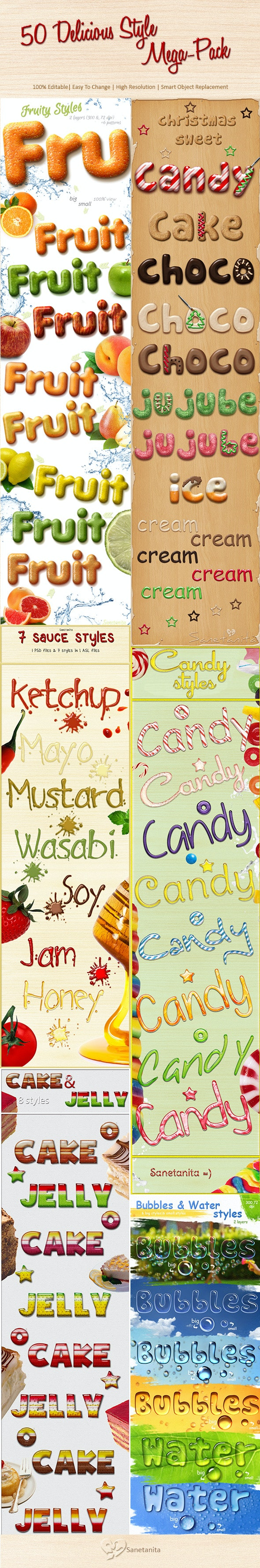 50 Delicious Style Mega-Pack!!! - Text Effects Styles