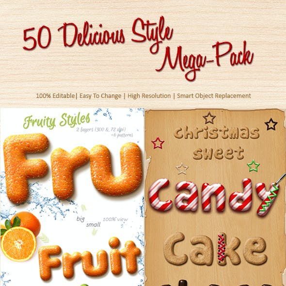 50 Delicious Style Mega-Pack!!!