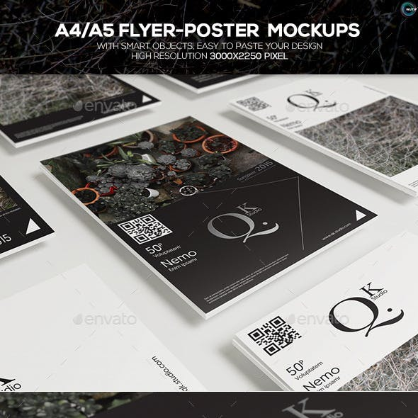 A4/A5 Poster-Flyer Mockups