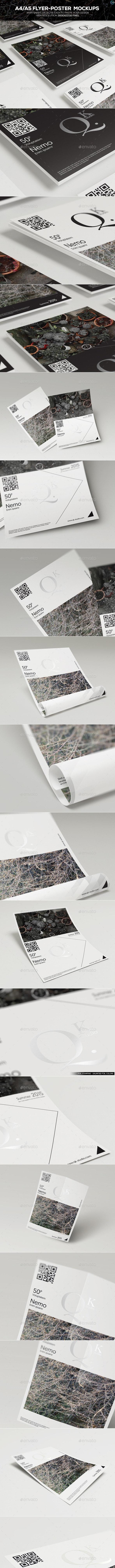 A4/A5 Poster-Flyer Mockups - Flyers Print