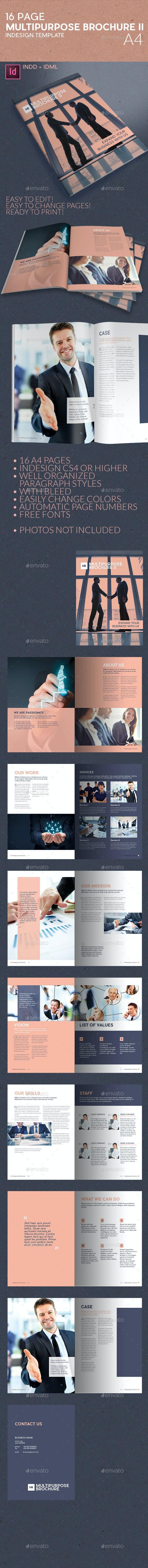 Multipurpose Business Brochure II A4 - Informational Brochures