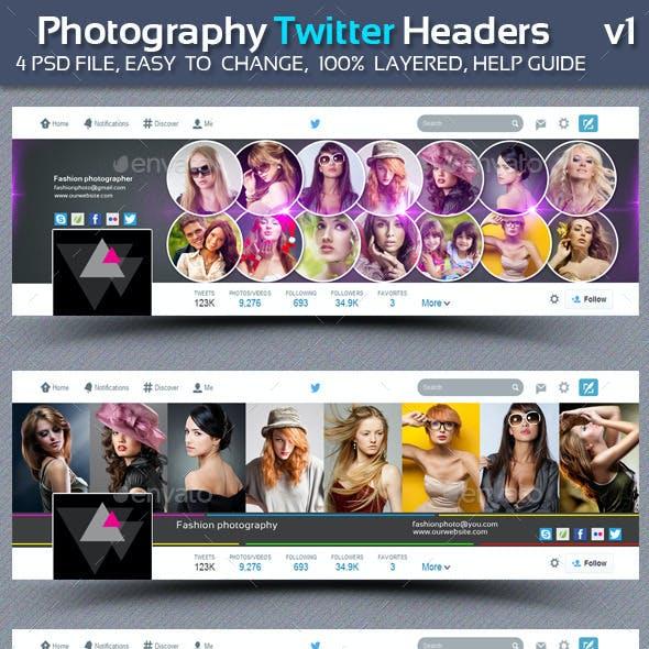 Photography Twitter Headers  v1