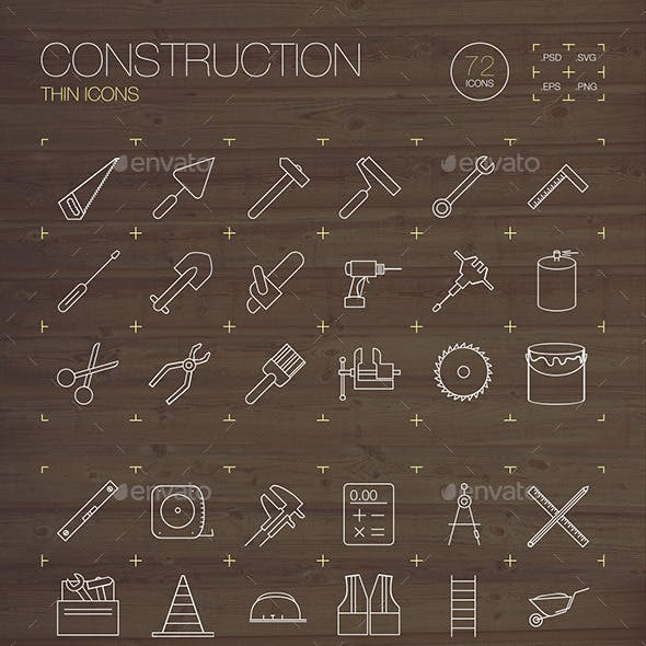 Construction Thin Icons