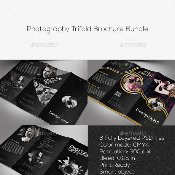 Photography Trifold Brochure Bundle