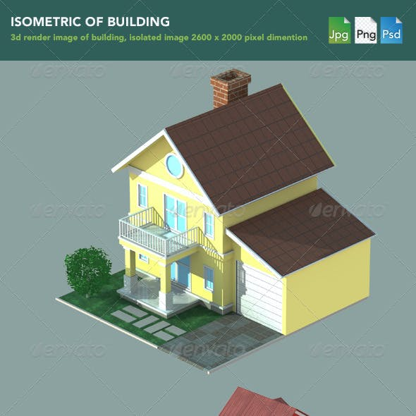 Isometric 3D Render of Building