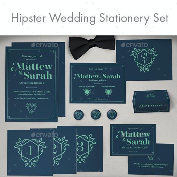 Hipster Full Wedding Stationery Set