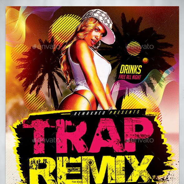 Trap Remix Summer Party I Flyer Template PSD
