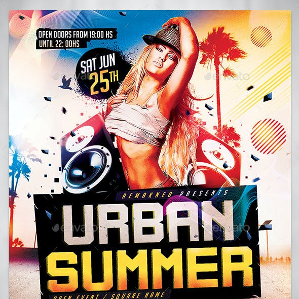 Urban Summer I Flyer Template PSD
