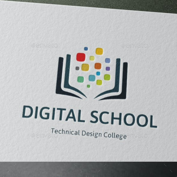 Technical Design College Logo Digital School