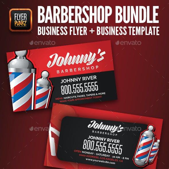 Barbershop Flyer & Business Card Template Bundle