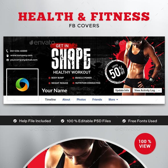 Health & Fitness Facebook Cover