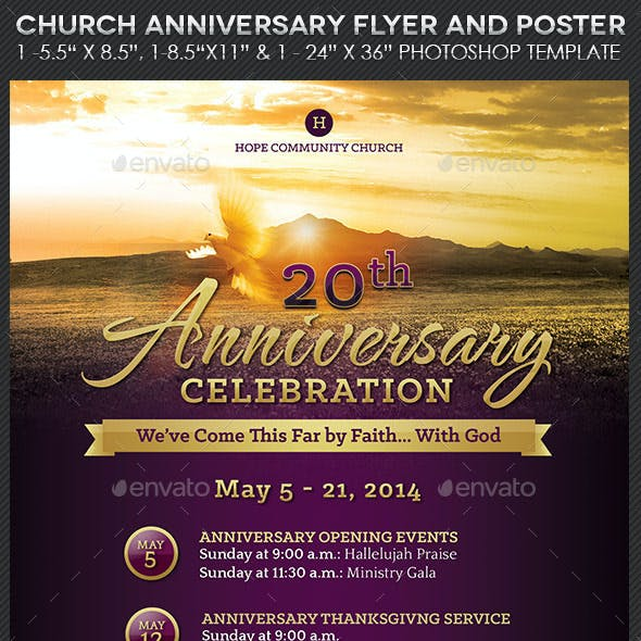 Church Anniversary Flyer Poster Template