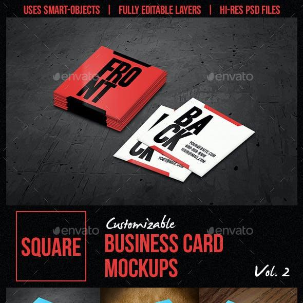 Square Business Card Mockups Vol. 2