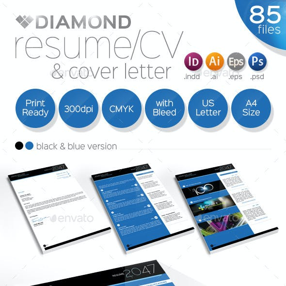 Resume / CV & Cover Letter - Diamond