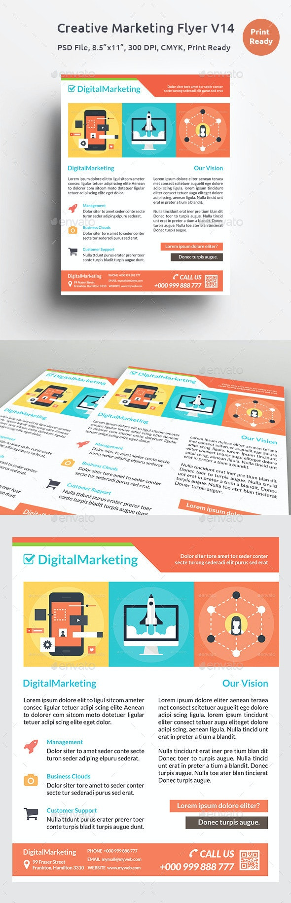 Creative Marketing Flyer V14 - Corporate Flyers
