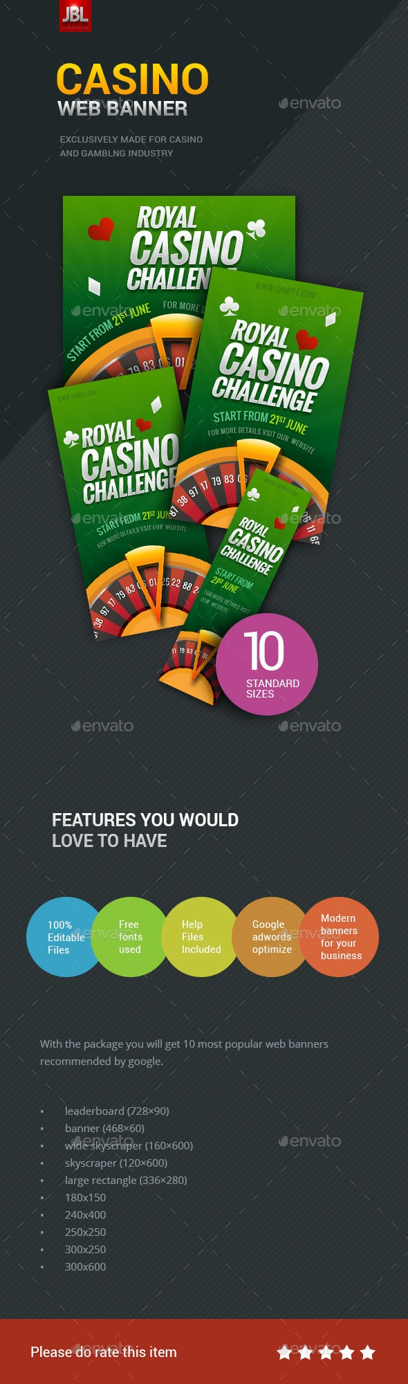 Casino Web Banner Package 01 - Banners & Ads Web Elements