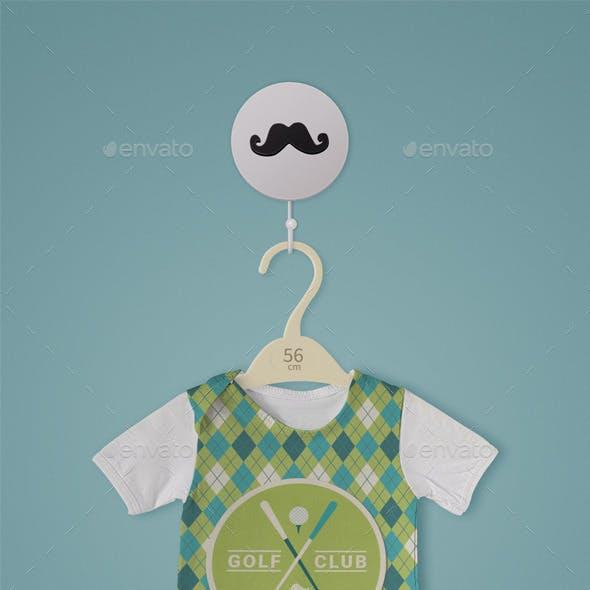 Baby newborn bodysuit mockup