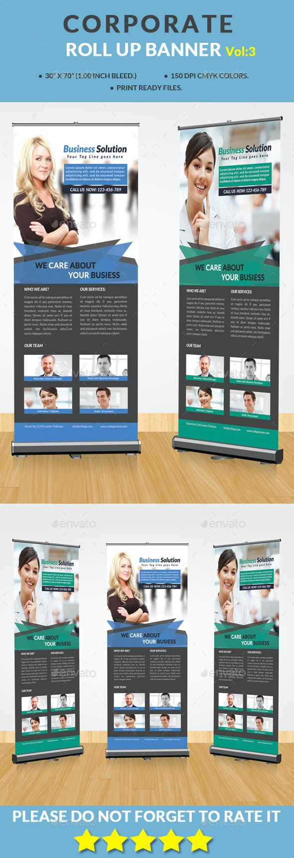Corporate Roll-up Banner Vol:3 - Signage Print Templates