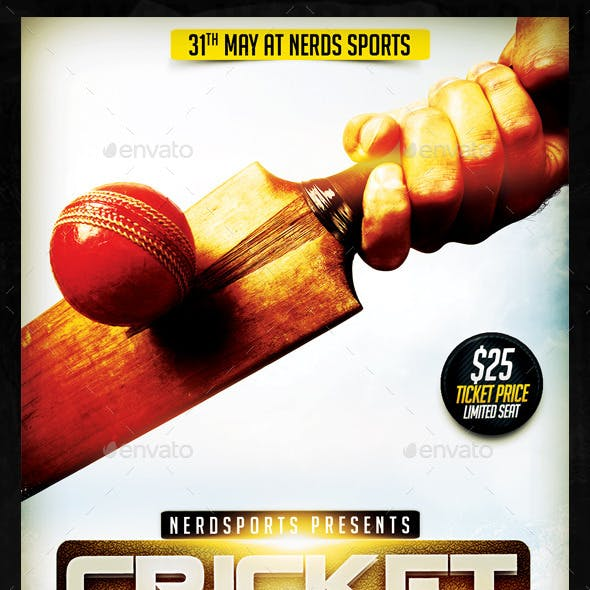 Cricket Games Sports Flyer