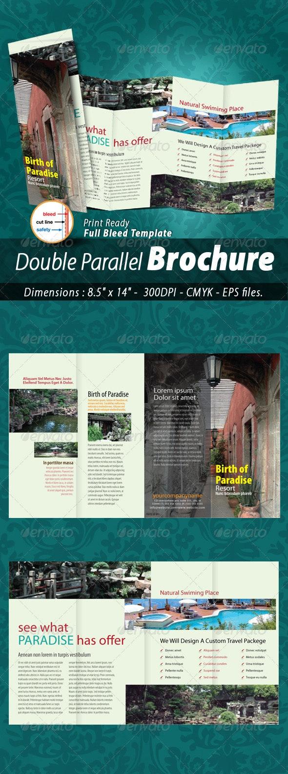 Hotel & Resort Double Parallel Brochure - Corporate Brochures
