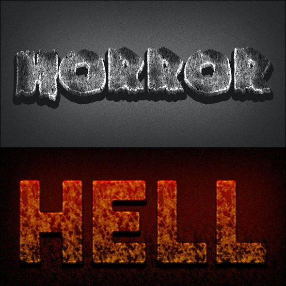 Photoshop Text Styles / Horror Vol.02