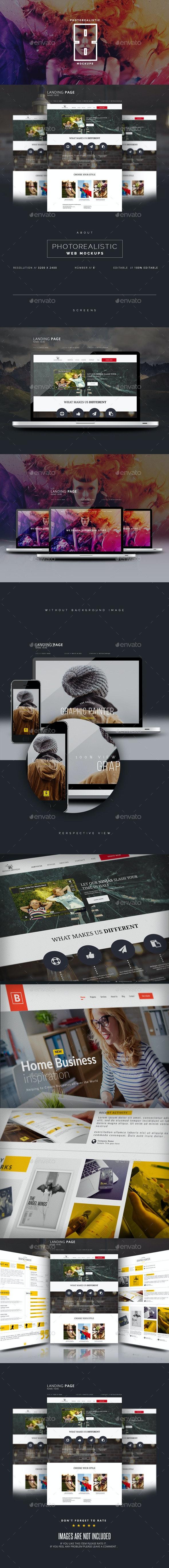 Photorealistic Website Display Mockup - Website Displays